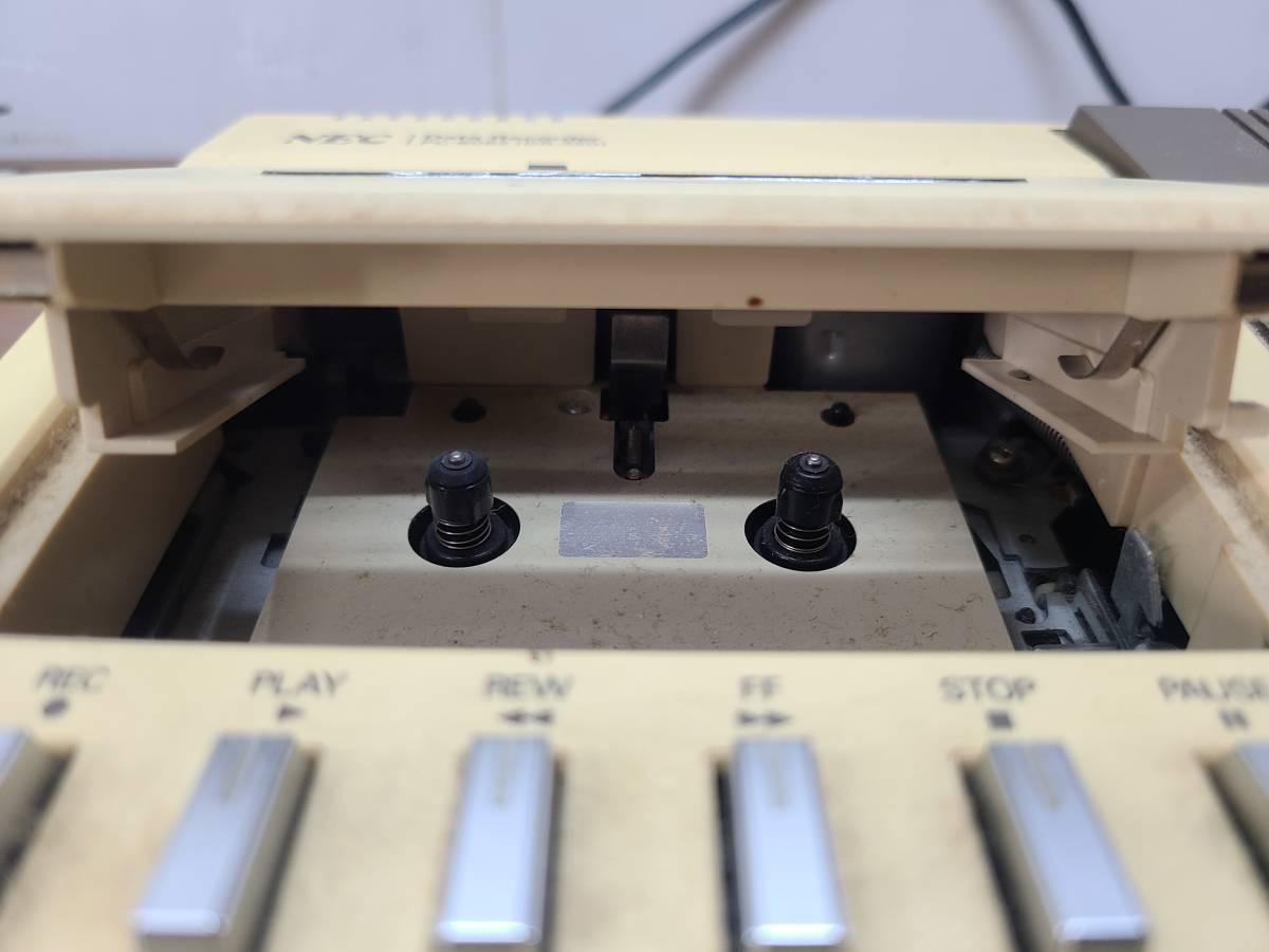NEC データレコーダー PC-6082 ●1481Y● カセット  コンピューター ※通電OK・動作NG レトロ ジャンク品 _画像5