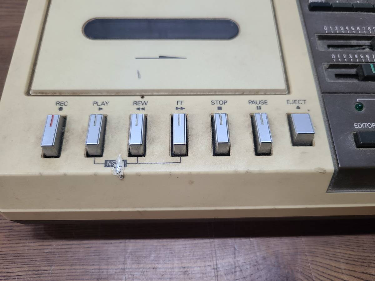 NEC データレコーダー PC-6082 ●1481Y● カセット  コンピューター ※通電OK・動作NG レトロ ジャンク品 _画像3