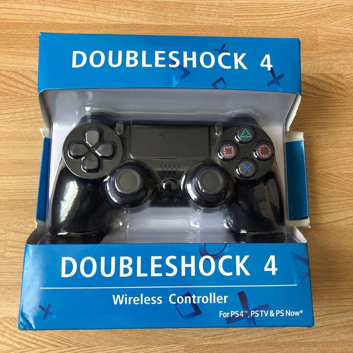 PS4 ワイヤレス コントローラー プレステ4 互換品 ブラック
