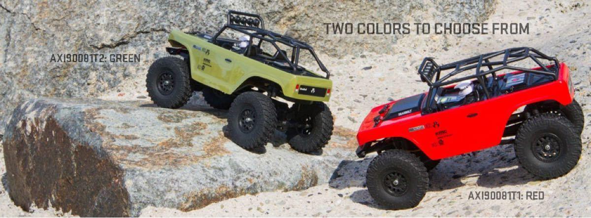 新品 アキシャル 1/24 SCX24 デッドボルト レッドRTR axial jeep クローラー ミニッツ4×4 京商 タミヤ