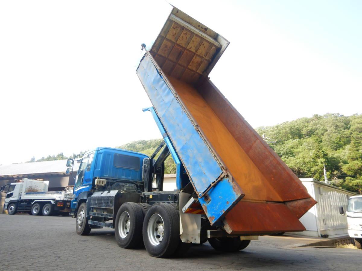 「【CH16415】 H23年 いすゞ ギガ ダンプ Lゲート 土砂ダンプ 実走26.1万km台 8×2速MT 最大積載量9000kg 税込み!」の画像1