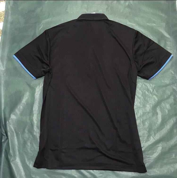 新品【メンズM 黒ブラック】le coq ルコック左胸BIGロゴゴルフトレーニング ポロシャツ 吸汗速乾機能QUICK-DRY 匿名配送 4_画像5