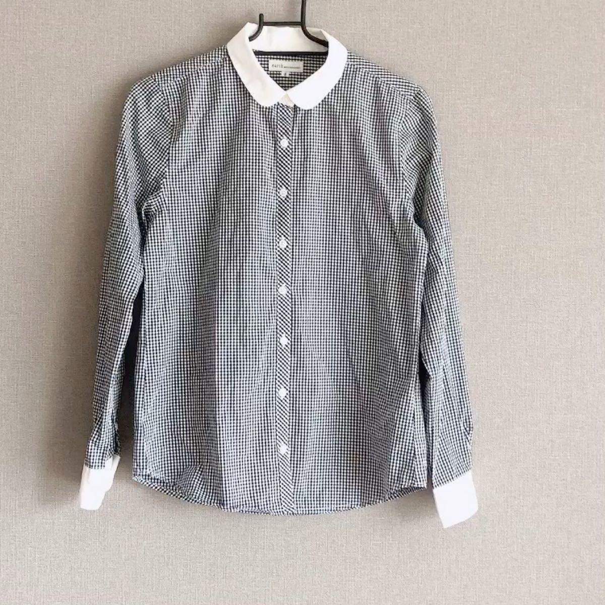ギンガムチェックシャツ ギンガムチェック柄 コットンシャツ 長袖シャツ