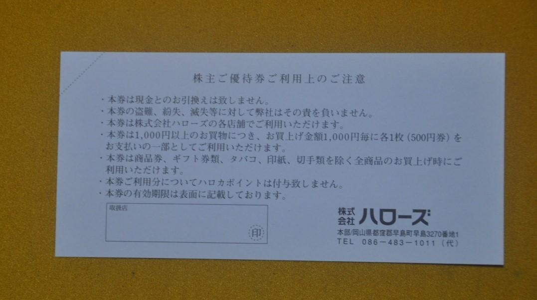 ☆最新☆株式会社ハローズ株主優待券10,000円分(500円券、20枚)_画像2