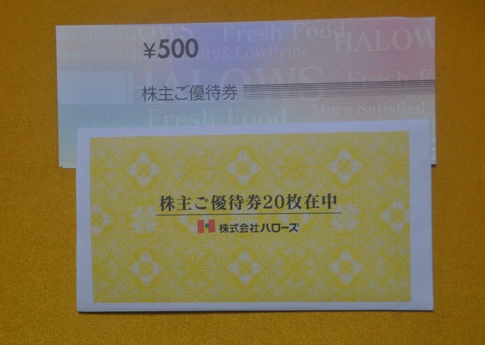 ☆最新☆株式会社ハローズ株主優待券10,000円分(500円券、20枚)_画像1