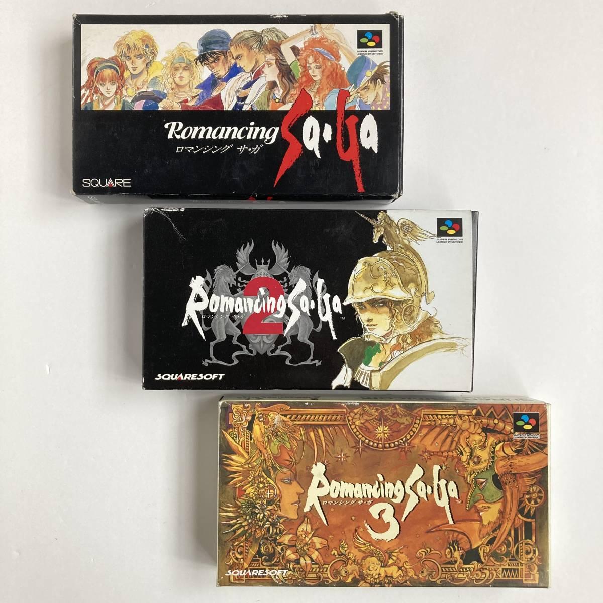 スーパーファミコン ロマンシング サガ 1 2 3 セット/ Lot 3 Romancing Saga 1 2 3 I II III SNES SFC Nintendo Famicom Square Enix Japan