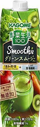新品1000g×6本 カゴメ 野菜生活100 Smoothie グリーンスムージーMix 1000g &time4R86_画像1