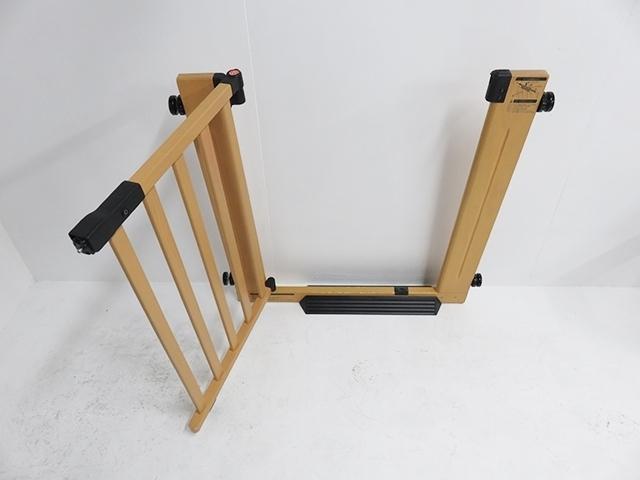 ベビーゲート グランドール 木製オートマチックゲートエクセレント エクステンション付_画像2