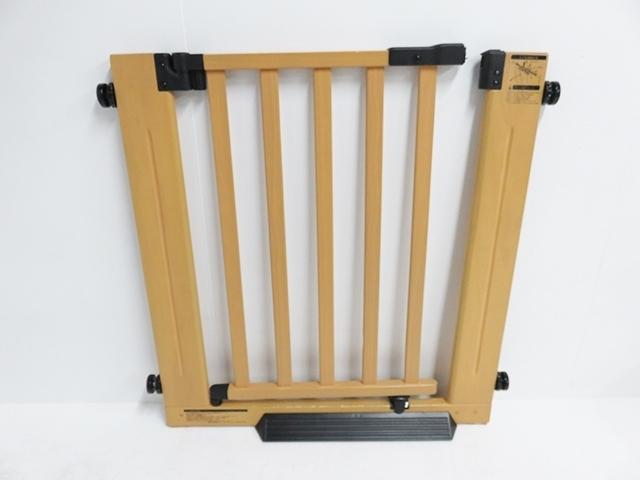 ベビーゲート グランドール 木製オートマチックゲートエクセレント エクステンション付_画像1