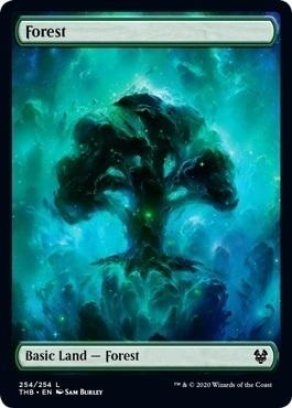 MTG テーロス還魂記【英】《森/Forest》[THB] 土地(254) 1枚_画像1