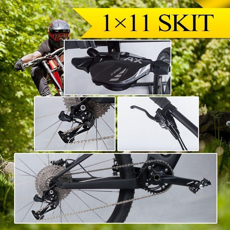 Full suspension mountain bike T800 carbon