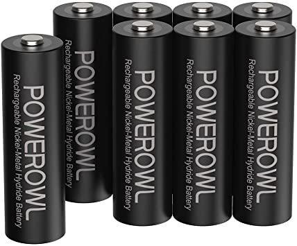 単3形8個パック 単3形充電池2800mAh Powerowl単3形充電式ニッケル水素電池8個パック 超大容量 PSE安全認証_画像1
