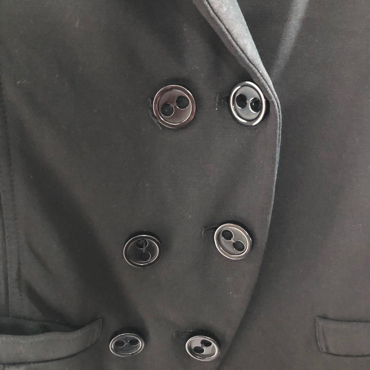 テーラードジャケット レディースジャケット ダブル風 スウェット地 M