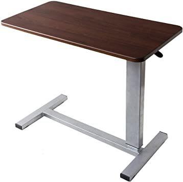 3.幅80 ダークブラウン タンスのゲン サイドテーブル 昇降式 幅80cm キャスター付き 高さ調節 介護用 ベッドテーブル _画像1