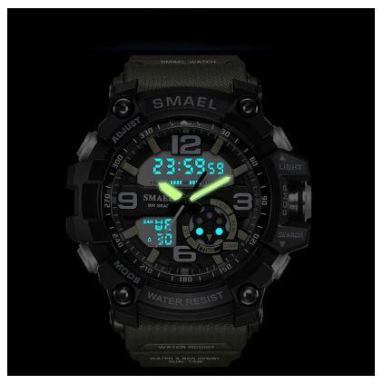 送料無料 SMAEL スマイル腕時計 メンズ ウォッチ 防水 スポーツ アナログ デジタル クオーツ 多機能 ミリタリー ライト 運動_画像2