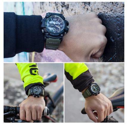 送料無料 SMAEL スマイル腕時計 メンズ ウォッチ 防水 スポーツ アナログ デジタル クオーツ 多機能 ミリタリー ライト 運動_画像4