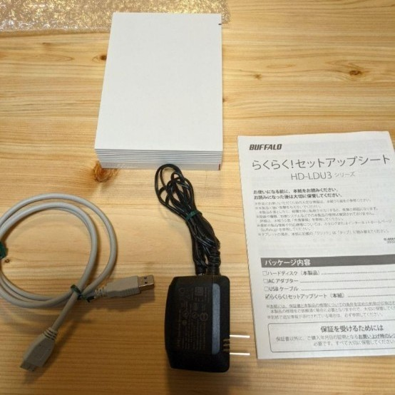 BUFFALO 外付けハードディスク 2TB USB3.1