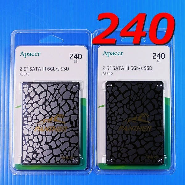 【SSD 240GB 2枚セット】Apacer AS340 PANTHER