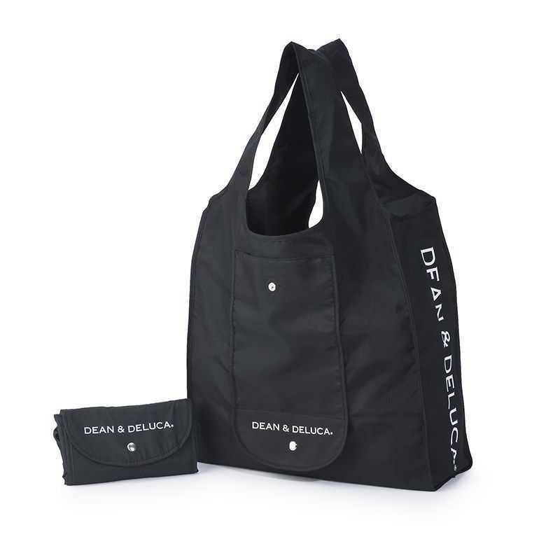 DEAN&DELUCA ショッピングバッグ 黒    エコバッグ  トートバッグ   ブラック    ディーン&デルーカ   直営店購入