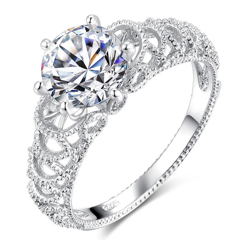 ☆☆世界一豪華☆☆ レディース指輪 ダイヤモンドリング 2ct #プラチナ仕上# 送料無料 注目 新品 贈答品
