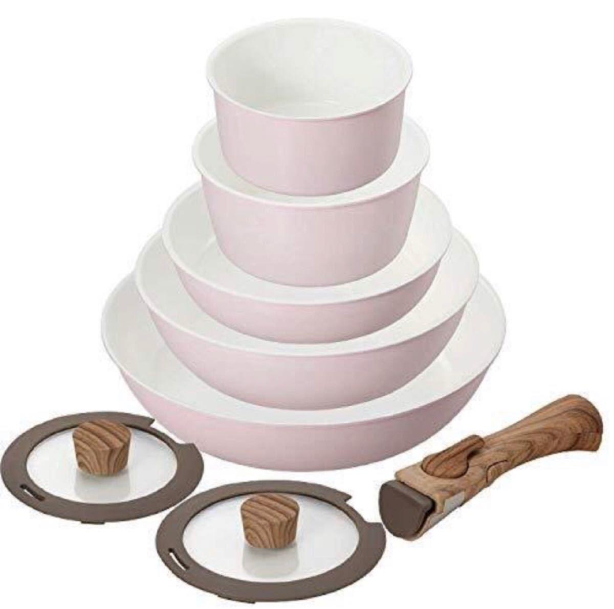 セラミック フライパン&鍋8点セット 蓋など 調理器具 遠赤外線