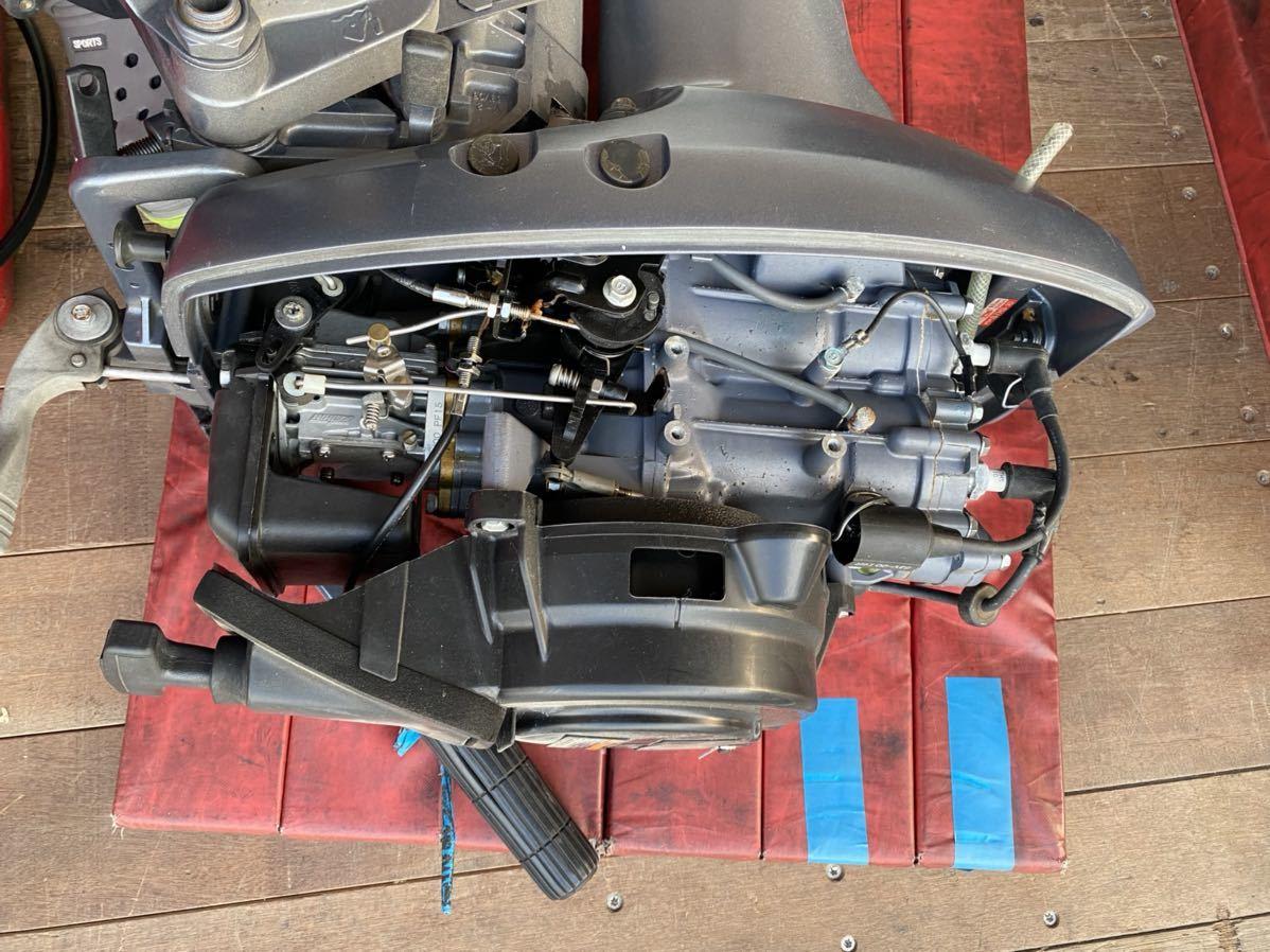 引取のみ!! 中古 ヤマハV-MAX Jr 15HP(15馬力)中古 燃料タンク接続ホース付き_画像6