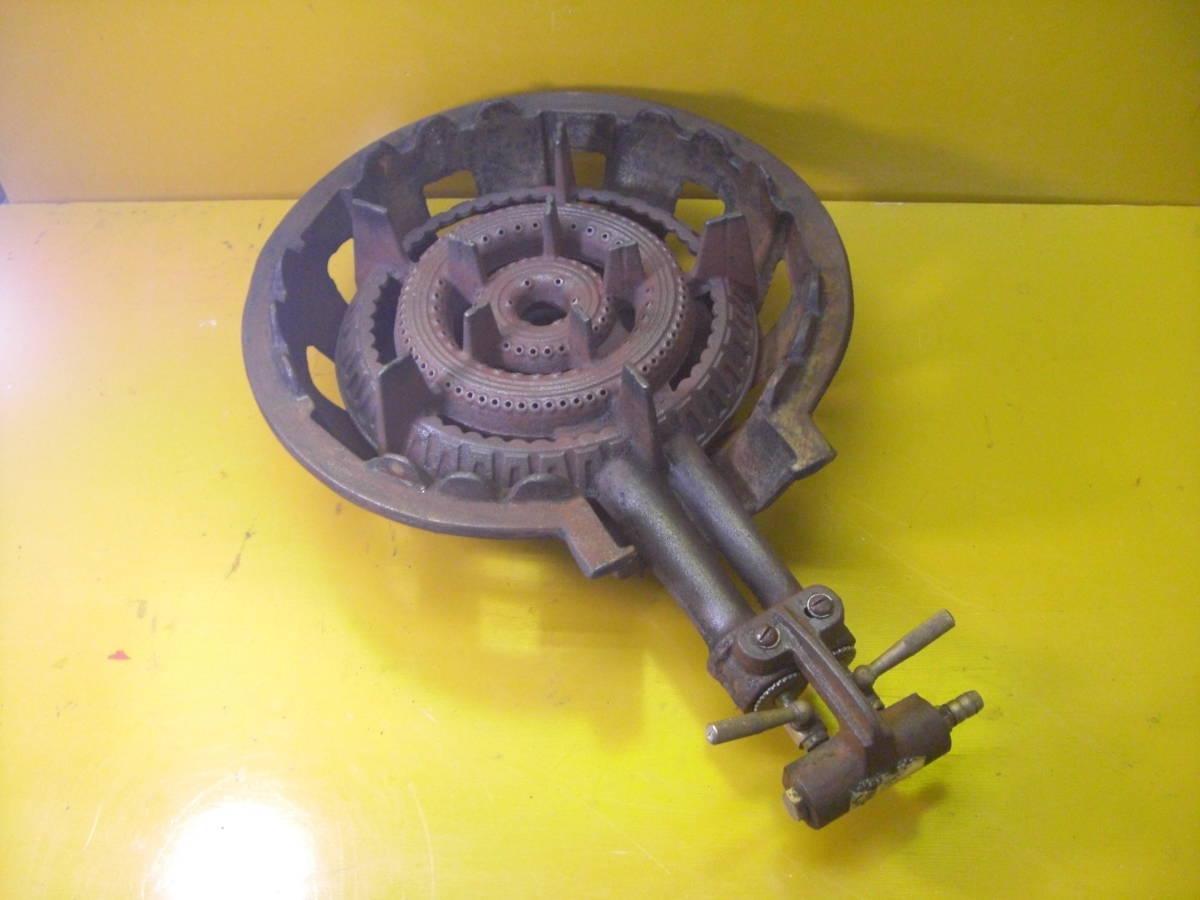 【良品】タチバナ製 TS-210H 鋳物コンロ 羽根付 2重巻バーナー ガスコンロ プロパン LP ガス G-10_画像1