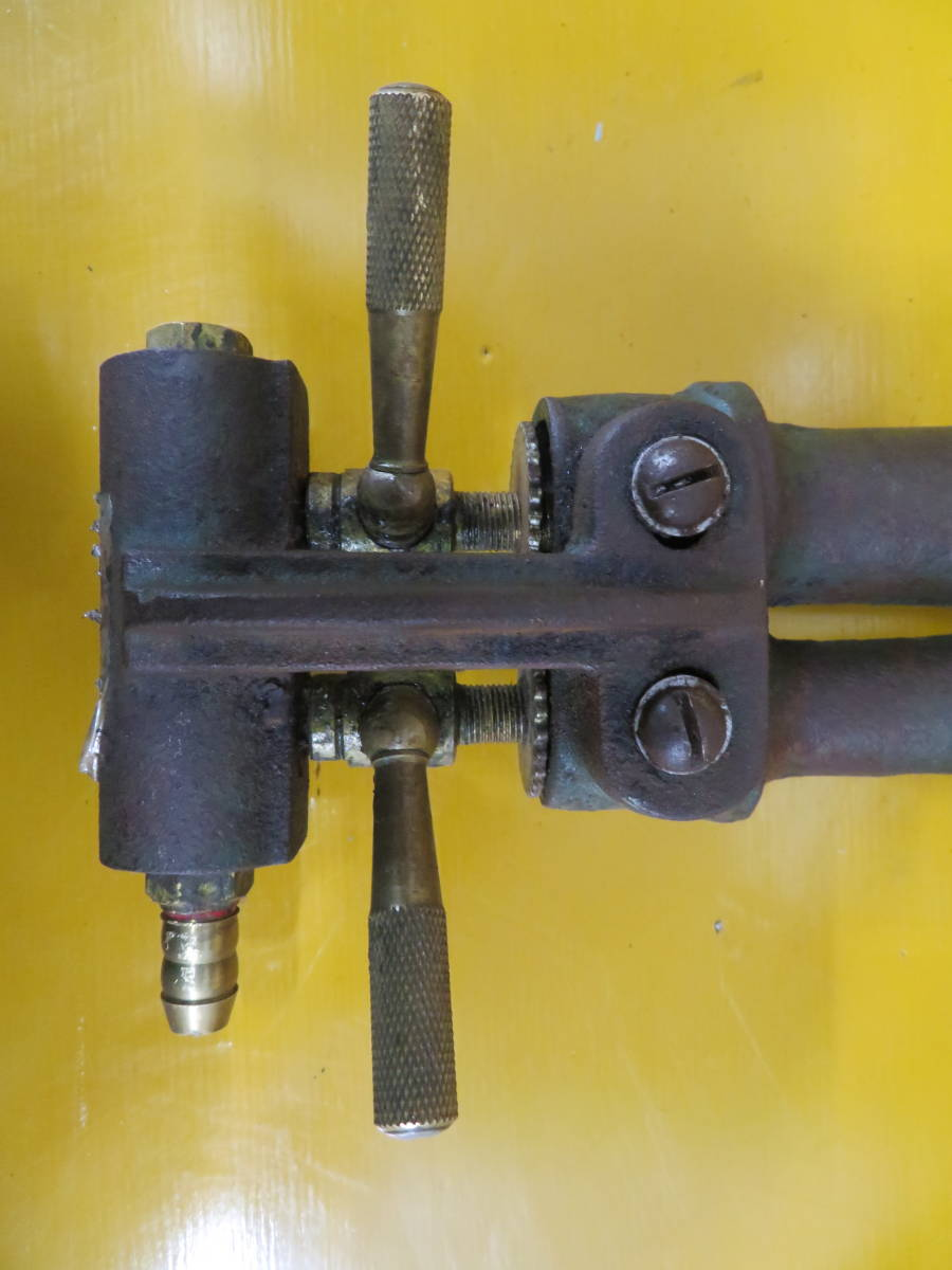 【良品】タチバナ製 TS-210H 鋳物コンロ 羽根付 2重巻バーナー ガスコンロ プロパン LP ガス G-05_画像4