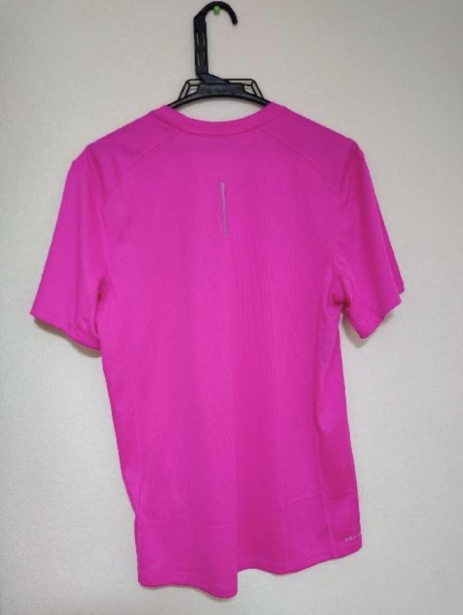 NIKE ナイキ Tシャツ ピンク 半袖 メンズ DRI-FIT ランニング
