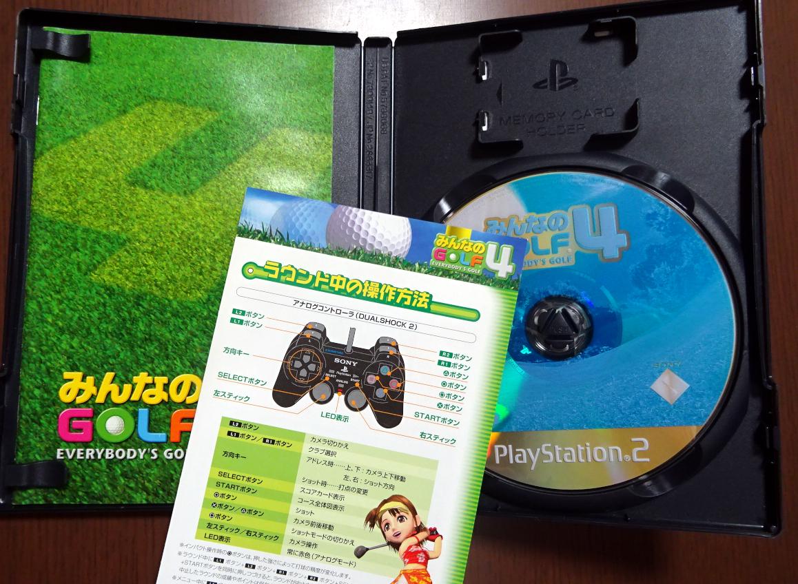 動作品【即決100円】PS2 みんなのGOLF4 みんなのゴルフ4 SCPS15059 プレステ2 / 即決特典おまけソフト1枚 _画像2