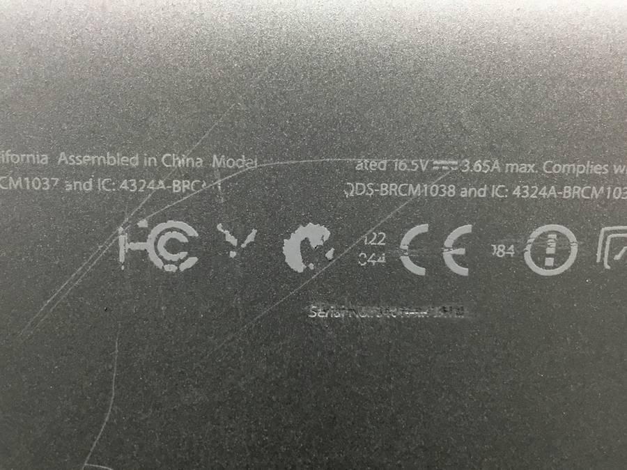 Apple MacBookPro7,1 Mid2010 Core2 Duo P8600 2.40GHz 4 GB 250 GB HDD■現状品_画像4