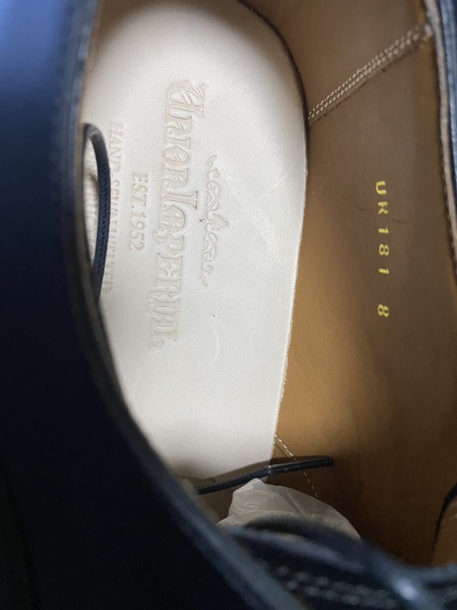 廃盤 新品 未使用 ユニオンインペリアル UR 181 8EEE ストレートチップ ビジネスシューズ 黒