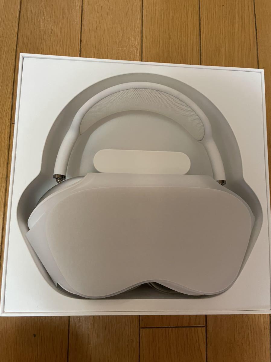 【美品】Apple AirPods Max Sliver ワイヤレスヘッドホン シルバー_画像3