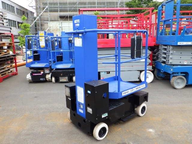 「《スカイタワー》高所作業車 AICHI SV04B アイチ 作業床高さ3.8m 最大荷重200kg バッテリー式 単相AC100V充電 #702754」の画像1