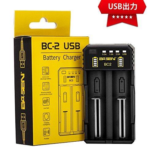 BO2 充電器 2充電スロット 18650充電器 電池充電器 リチウム充電器 急速充電器 電池保護機能 電池容量測定 電池活性化_画像1