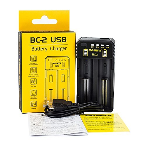 BO2 充電器 2充電スロット 18650充電器 電池充電器 リチウム充電器 急速充電器 電池保護機能 電池容量測定 電池活性化_画像7