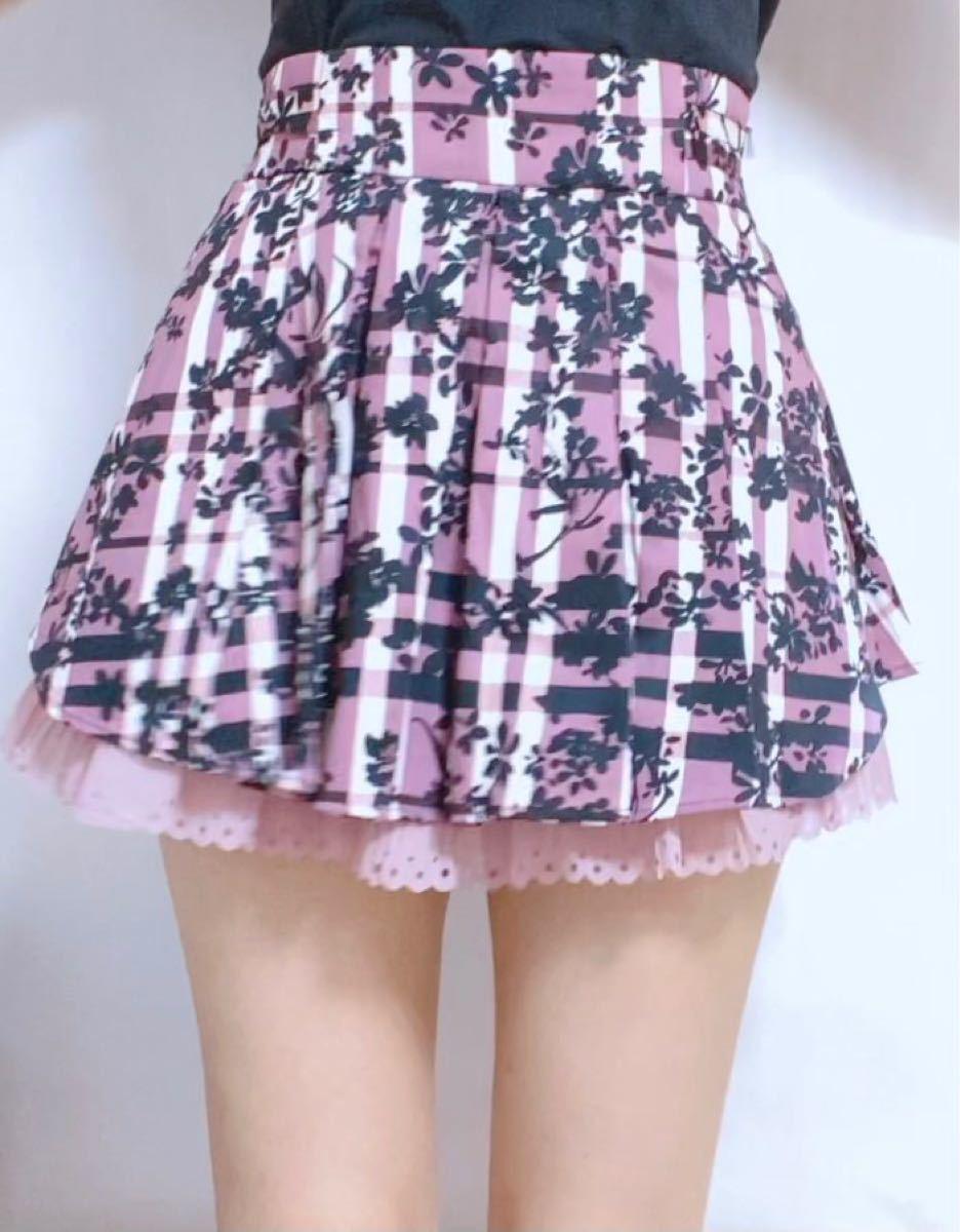 シークレットマジック 花柄スカート 新品未使用 ピンク