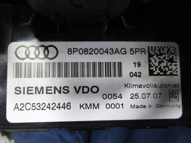 アウディ A4 エアコンスイッチパネル 8P0820043AG5PR SIEMENSVDO A2C53242446_画像7