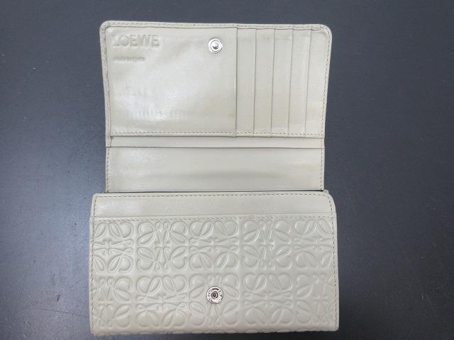 LOEWE ロエベ●二つ折り財布 レザー グレー L字ファスナー ウォレット (95207_画像2