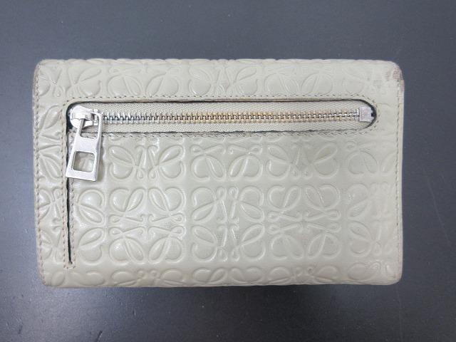 LOEWE ロエベ●二つ折り財布 レザー グレー L字ファスナー ウォレット (95207_画像9