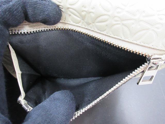 LOEWE ロエベ●二つ折り財布 レザー グレー L字ファスナー ウォレット (95207_画像6