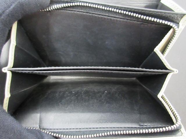 LOEWE ロエベ●二つ折り財布 レザー グレー L字ファスナー ウォレット (95207_画像4