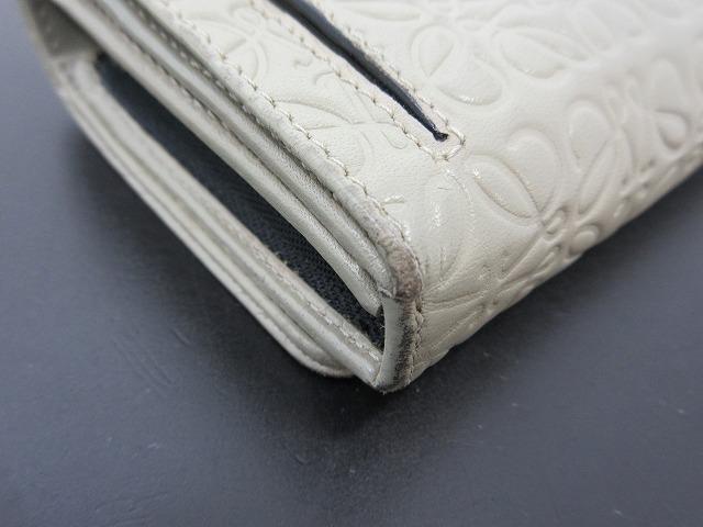LOEWE ロエベ●二つ折り財布 レザー グレー L字ファスナー ウォレット (95207_画像7