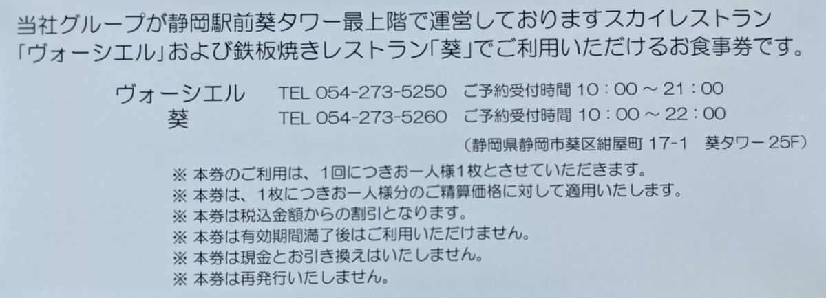 TOKAIホールディングス 株主優待飲食割引券券(1~9枚)_画像2