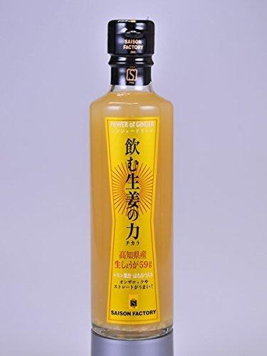 セゾンファクトリー 飲む生姜の力 265ml 高知県産生姜使用 はちみつ入り生姜ドリンク_画像1
