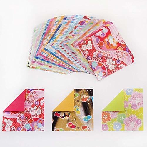 色両面 サイズ7.5cm角 トーヨー 折り紙 和紙風 千代紙づくし 両面 7.5cm角 30柄 120枚入 018061_画像6