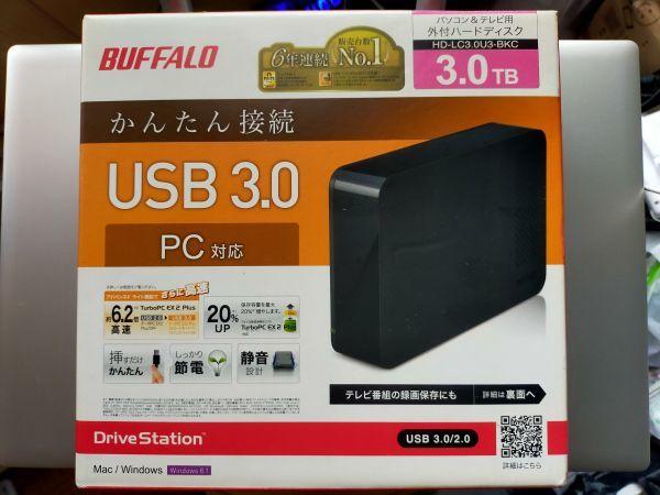 BUFFALO 据置外付けHDD 3TB USB3.0 使用時間56時間 HD-LC3.0U3-BKC_画像2