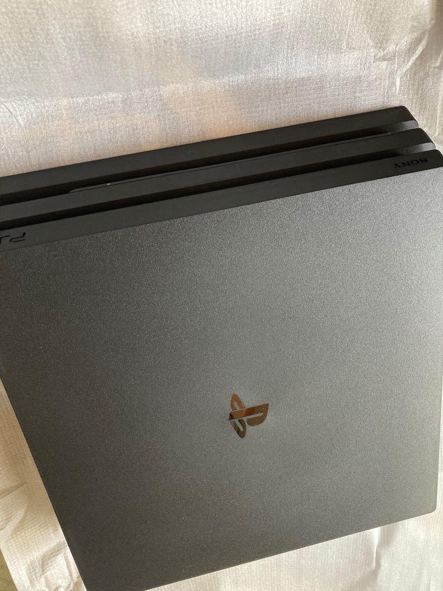 ps4 pro 本体 コントローラー 2ヶ スタンド付き 使用期間少 PlayStation4 ジェットブラック プレステ4 プロ