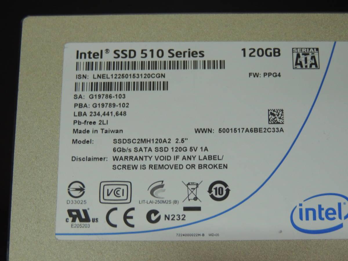 【検品済み】INTEL SSD 510series 120GB SSDSC2MH120A2 (使用15706時間) 管理:w-56_画像4