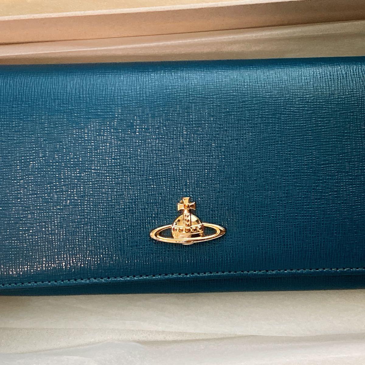 Vivienne Westwood 長財布 ヴィヴィアンウエストウッド レディース長財布 ネイビー ブルー 青
